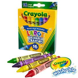 繪兒樂Crayola可水洗大蠟筆16色(523281)