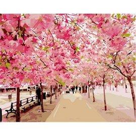 繪畫 DIY手繪風景人物花卉數字油畫 40x50【HH婦幼館】01下標區