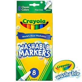 繪兒樂Crayola可水洗8色細頭彩色筆-經典色