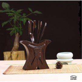 5Cgo~ 七天交貨~ 45326027365 黑檀木茶道六君子 茶藝泡茶工具套裝功夫茶具