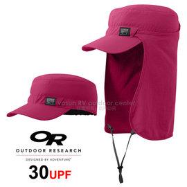 【美國 Outdoor Research 】RADAR SUN RUNNER CAP™ UPF30 抗紫外線透氣護頸帽/鴨舌帽.跑步帽.棒球帽.擋片可拆_桃紅 OR80613