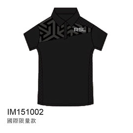 2015RSL國際 POLO排汗衫~低調黑圖騰爵士黑^(男^)