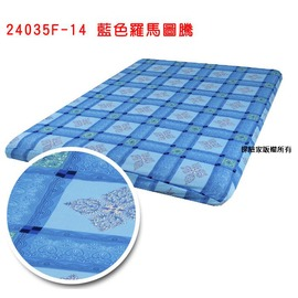 探險家戶外用品㊣24035F-14 藍色羅馬圖騰床包 (M)適用 適夢遊仙境充氣睡墊 露營達人充氣床墊 歡樂時光充氣墊 DY16F