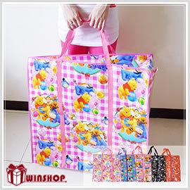 【Q禮品】A1651 迪士尼大型防水環保購物袋/棉被收納袋/衣物收納袋/防水收納袋/拉鍊購物袋