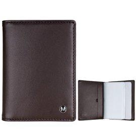 MONDAINE 瑞士國鐵牛皮信用卡夾~咖啡