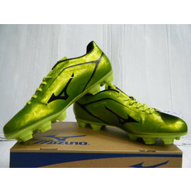 新莊新太陽 庫存 零碼 MIZUNO 美津濃 P1GA156509 寬楦 足球鞋 螢光綠