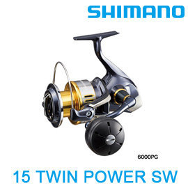 ◎百有釣具◎SHIMANO   15 TWIN POWER   SW5000XG/SW6000HG捲線器~ 日製品