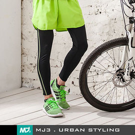 ~MJ3~自在慢跑吸濕排汗 短褲~男 螢光綠