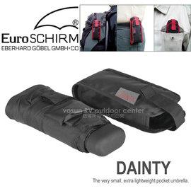 【德國 EuroSCHIRM】全世界最強的雨傘!!! DAINTY 抗UV輕便 口袋傘/玻璃纖維 折疊傘/輕巧迷你 晴雨 防曬傘/黑 1028-OBL