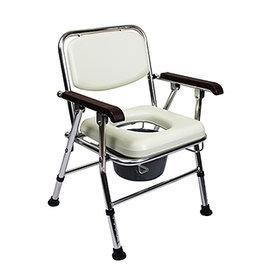 JCS~202 鋁合金軟背收合便器椅