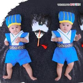 童裝 兒童周歲寫真攝影諸葛亮角色扮演服裝 套裝【HH婦幼館】