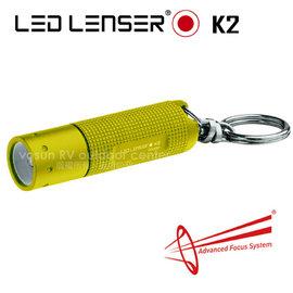 【LED LENSER 德國】K2 鎖匙圈型手電筒(25流明)/緊急照明.露營旅遊.修繕防災.戶外登山_黃 1041