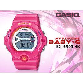 CASIO 時計屋 卡西歐手錶 Baby~G BG~6903~4B 桃紅 60組記憶 慢跑