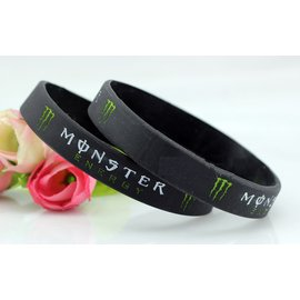 NBA矽膠手環 MONSTER ENERGY 怪獸 手環 果凍手環^(黑^)