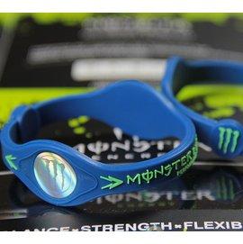 MONSTER ENERGY 負離子NBA鈦能量手環 矽膠手環 賽車手環 M ^(藍^)