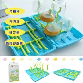 奶瓶架 水草造型可收納好攜帶晾乾奶瓶架【HH婦幼館 】