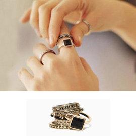 PS Mall 部落客 多層金屬戒指 指環~G1790~