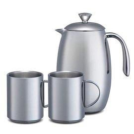 《Tiamo》一壺兩杯//800ml不鏽鋼保溫濾壓咖啡壺組合 SP-9908  **免運費**