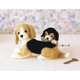 心動小羊^^^^仿真米格魯美麗諾羊毛羊毛氈材料包、可製作成手機吊飾(純羊毛製品)