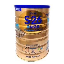 惠氏S-26金幼兒樂升級配方1.6Kg (6罐/箱)3號(1-3歲)