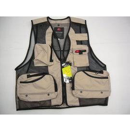 ◎百有釣具◎進口品牌 YZ2用釣魚背心~多口袋收納設計 規格:大/小  4色:米/綠/藍/紅 隨機出貨