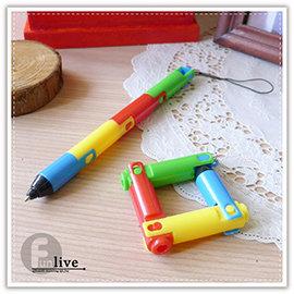 【Q禮品】A2537 折疊彎曲變形筆/吊飾筆/手機吊飾/趣味變形筆/原子筆/廣告筆/文具用品