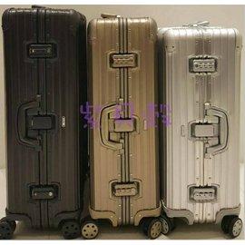 『型號:920.73.03.4』RIMOWA Topas Titanium 30吋 中大型四輪旅行箱(台灣公司貨/全球保固五年/品質保證)