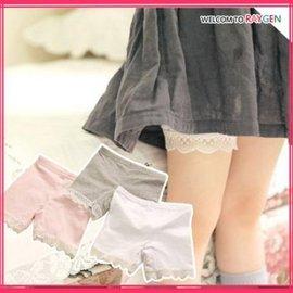 童裝 女童蕾絲花邊防走光打底褲 內搭褲 短褲【HH婦幼館】