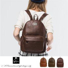 後背包1 2品牌復古仿舊皮革大容量背包  A2577