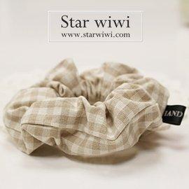 ~Star wiwi~日系清新風格髮束~髮飾 • 髮圈 • 大腸圈~~1入~~格紋款~