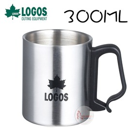 探險家戶外用品㊣NO.81285131 日本品牌LOGOS 不鏽鋼掛杯L 300ML 不鏽鋼杯雙層隔熱杯登山爬山露營野炊