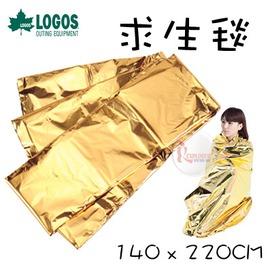 探險家戶外用品㊣NO.82100050 日本品牌LOGOS 防災輻射熱鋁薄膜50g 救生毯 緊急用毯 救生毯 急救毯 保溫毯 保暖毯