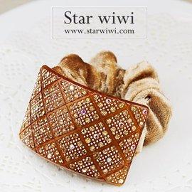 ~Star wiwi~璀璨典雅 髮束~髮飾 • 髮圈~~1入~~咖啡色~