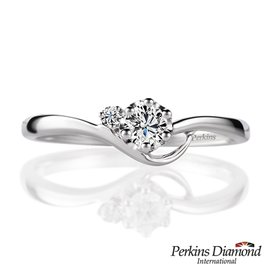 PERKINS 伯金仕 Athena系列 14K白金 0.12克拉鑽石戒指