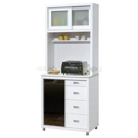 ~台中承鑫傢俱~ UH~B379~02艾美白色石面2.7尺~餐櫃