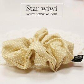 ~Star wiwi~日系甜美圓點髮束~髮飾 • 髮圈 • 大腸圈~~1入~~淺褐色~