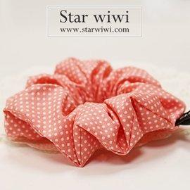 ~Star wiwi~日系甜美圓點髮束~髮飾 • 髮圈 • 大腸圈~~1入~~櫻桃紅色~