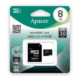 Apcaer^(宇瞻^)MicroSDHC UHS~1 Class10 8G記憶卡~附轉卡