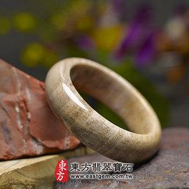 (已售出勿 ,可訂做)木化石手鐲(淺咖啡色帶白色,圓鐲18)WO016~ 精雕拋光玉鐲,客