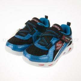 65折 ^~SKECHERS ^(童^) 男童 發光 電燈 慢跑 鞋 ~90385NBLB