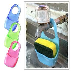 【Q禮品】B2511 可掛水槽瀝水掛袋/廚房海綿/收納架/水槽置物架/瀝水架/收納袋/掛袋/廚房衛浴收納