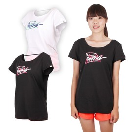 PUMA 女海灘系列短袖T恤(棉T 圓領 運動【03312107】≡排汗專家≡