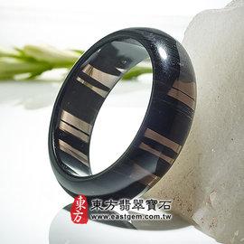 (已售出勿 ,可訂做)冰種黑曜石玉鐲(灰到黑有帶眼,微透光,圓鐲17.5)BO011~ 精
