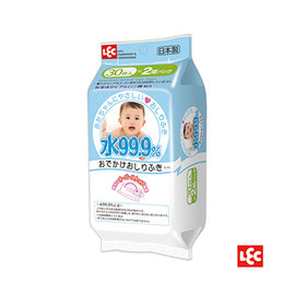 【紫貝殼】『PEOPLE32-3』日本製 純水99.9%濕紙巾隨身包(2包) 【30張(1包)*2包】SGS認證、無酒精、不添加甲醛及螢光劑