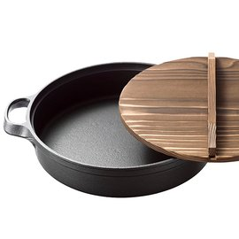福介 館^~ 南部鐵器~盛榮堂 壽喜燒煎餃子鍋 24公分~ 製 精緻鑄鐵鍋^~雙耳平底鍋