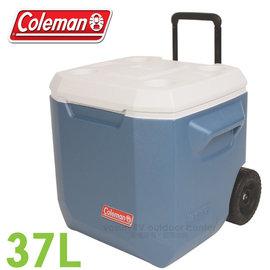 【美國Coleman】37L XTREME 4日鮮保冷拖輪冰箱.拖輪冰桶.冰筒.行動冰箱.保冷箱/握把高度可調.排水孔設計/CM-02115