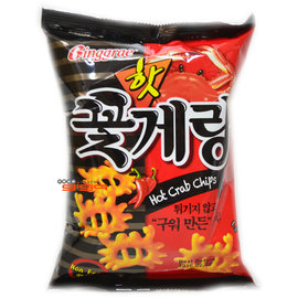 缺貨@-【吉嘉食品】Binggrae 辣味蟹仔脆片 1包46公克36元,韓國進口,另有辣年糕脆條,BIKA蜜糖蟹味酥{8801104720984:1}