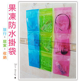 【Q禮品】A2552 果凍浴室防水掛袋/PVC洗浴用品掛袋/三層浴室防水收納袋/旅行沐浴包/盥洗用品收納