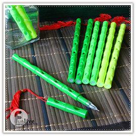 【Q禮品】A2555 雙頭竹子吹笛筆/笛子筆/哨子筆/雙頭筆/竹葉筆/小草筆/中性筆/造型原子筆/創意文具/廣告筆