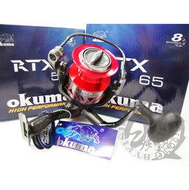 ◎百有釣具◎OKUMA RTX 阿提斯超輕量紡車捲線器 規格: 55 / 65 / 80~ 廣泛對應淡水、海水等輕型路亞與多種對象魚 送母線
